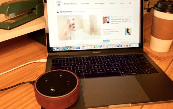 Alexa delivers Mayo Clinic news via Amazon Echo