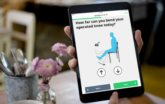 Checking patients progress using an app-based program at Saint Peter's
