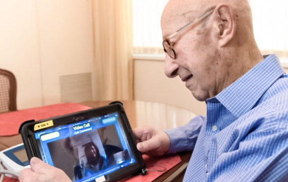 Patients are offered tablets for telemonitoring by Northwell Health Home Care