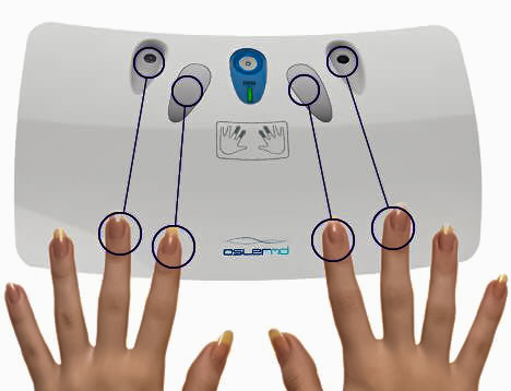 OslerMD: quick health checkup with a four finger scan