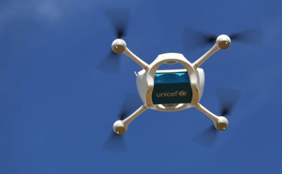 Unicef Drones transporting medical supplies when infrastructure is not in place