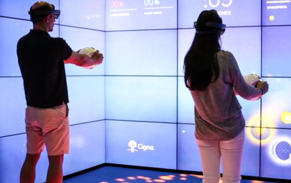 A holographic game from Cigna and Microsoft for health screenings