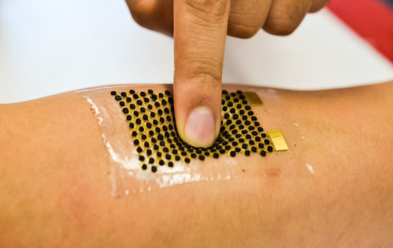 Stretchable biofuel cells can power wearable devices with sweat