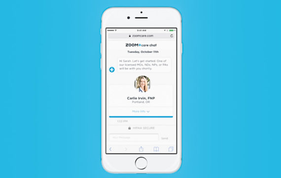 Zoom+ launches telemedicine chat app