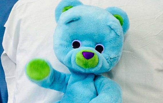 "A Robotic Bear ""Huggable"" Entertains And Helps Hospitalized Children"